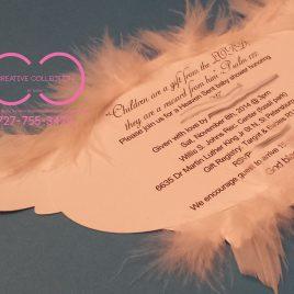 Angel Wings Invitation