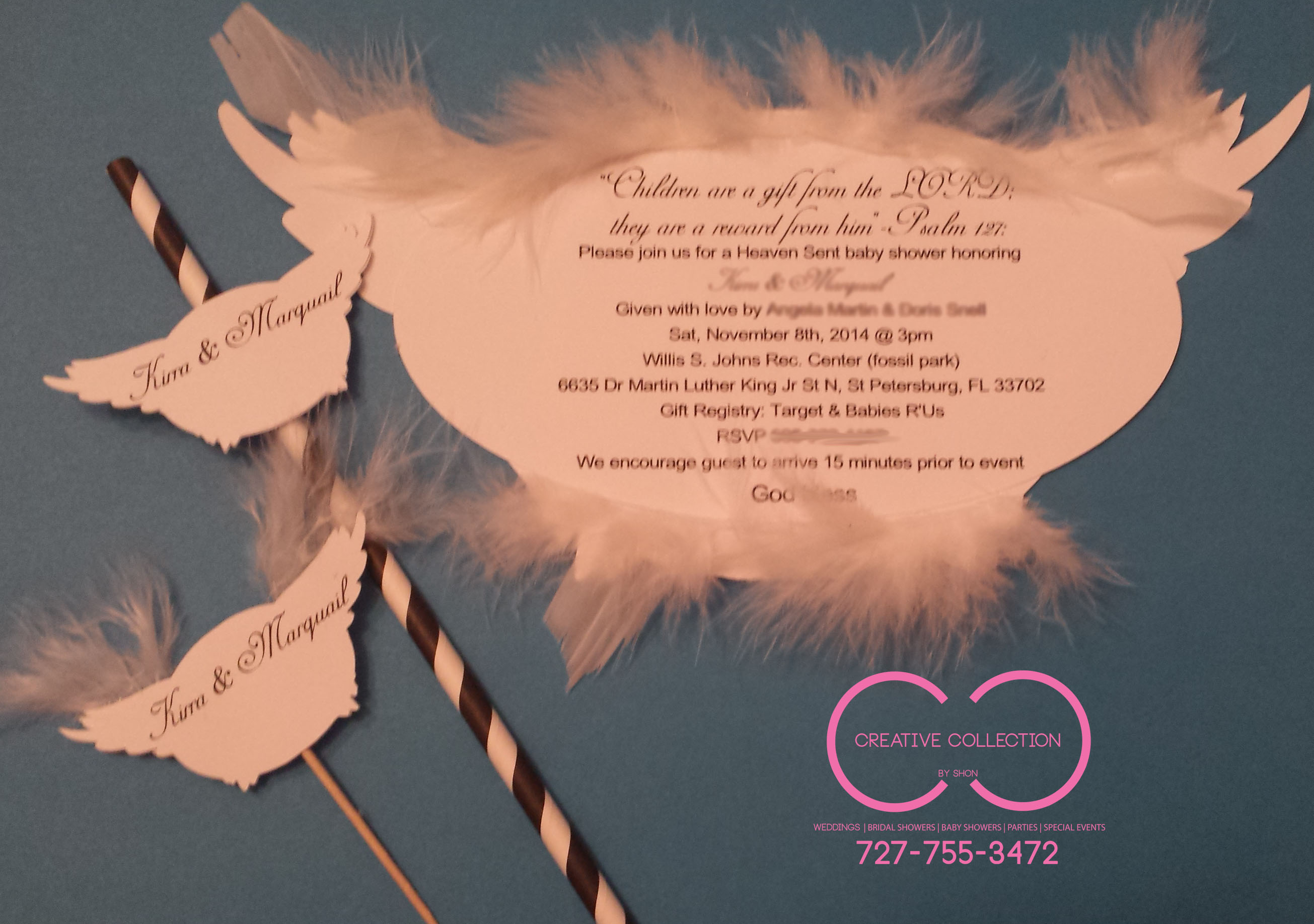Angel Wings Invitation Creative Collection by Shon Official Website