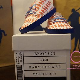 Horsemen Baby Shoes and Box Invitation