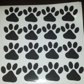 Paw Print Decals (A Set Of 10 Decals)