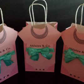Tiffany Inspired Onesie Gift Bags (sold in sets)