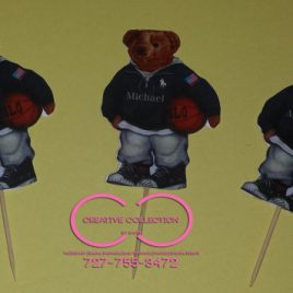"Horsemen ""Custom"" Cupcake Toppers (sold in sets)"