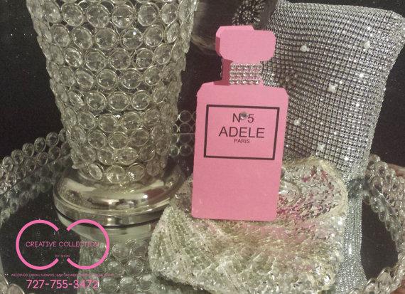 Parisian perfume bottle invitations creative collection by shon parisian inspired stopboris Choice Image