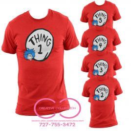 Thing 1 2 3 T-Shirt Cat in the Hat