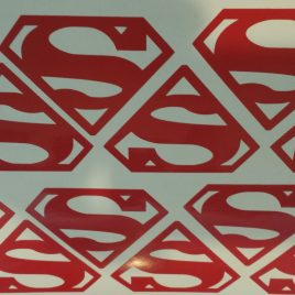 Superman Style Decal (Vinyl Stickers)