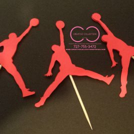 Jumpman cupcake toppers (sold in sets)