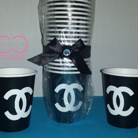 Parisian Inspired Drinking Cups