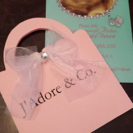 Tiffany Inspired Baby Shower Purse Invitation (sold in sets)