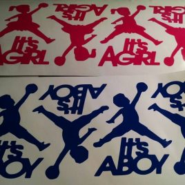 Jump Man It's A Boy / It's A Girl Decals (A Set Of 10 Decals)