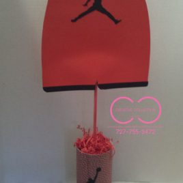 Jumpman Inspired Onesie Centerpiece