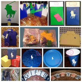 Deluxe Horsemen Party Package (Include: Invitations, Candy Bags, Plates,Cups,Napkins and Centerpiece)