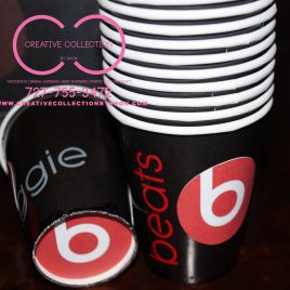 Beats By Dre Inspired Party Cups