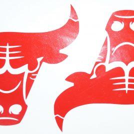 Bulls Style Decals (Vinyl Stickers)