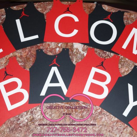 Jumpman Welcome Baby Banner