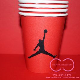 "Jumpman ""Jordan"" Inspired Party Cups"