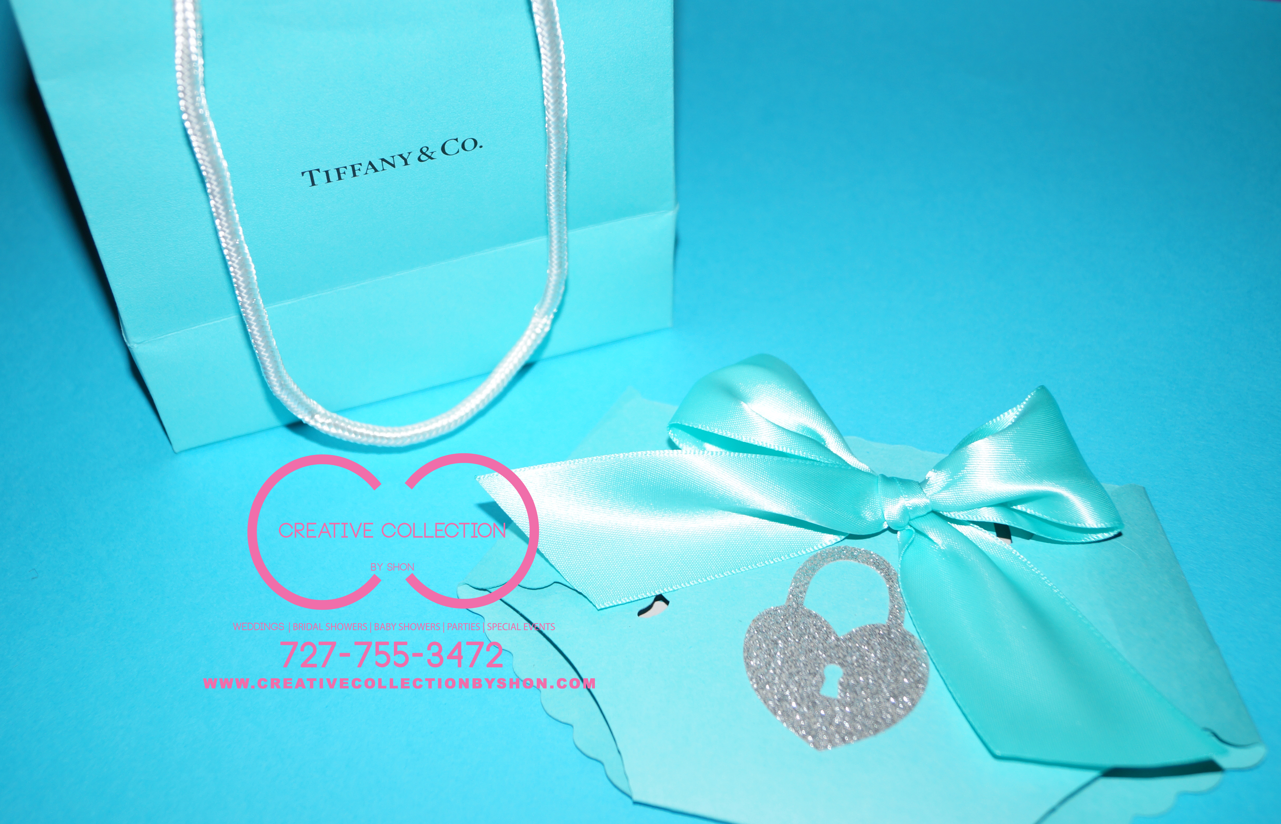 Tiffany Inspired Diaper Invitations