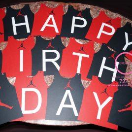 Jumpman Happy Birthday Banner