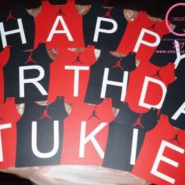 Customized Jumpman Happy Birthday Banner