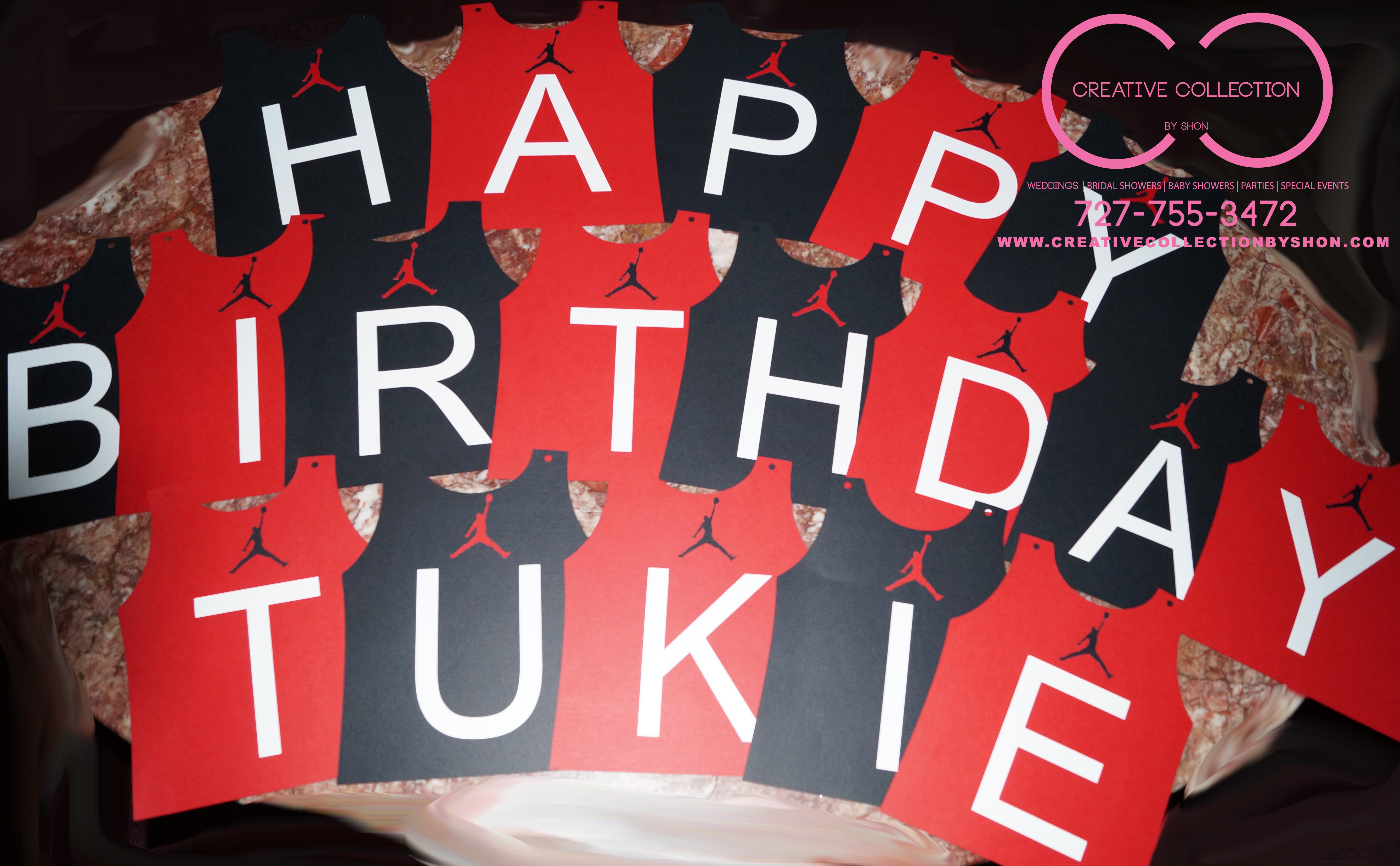 "Jumpman ""HAPPY BIRTHDAY"" Banner Customize – Creative Collection"