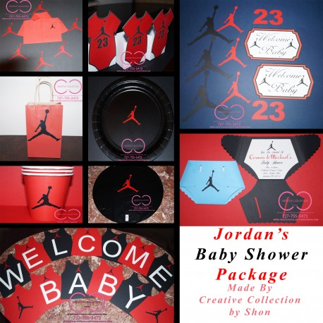 jumpman jordan inspired baby shower package creative