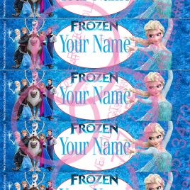Frozen Water Bottle Labels