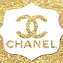 Chanel Water Bottle Label Gold