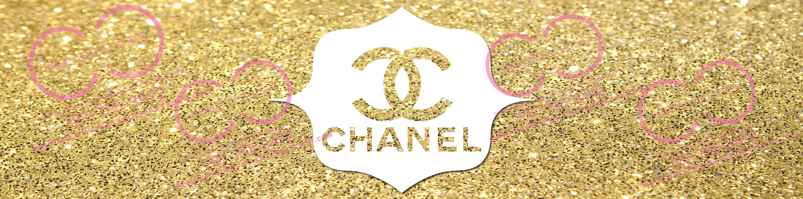 Chanel Water Bottle Label Gold