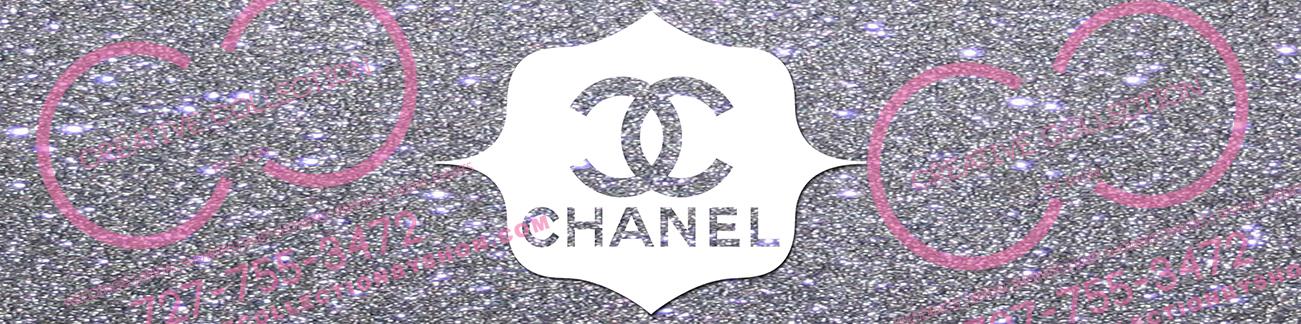 Chanel Water Bottle Label Silver