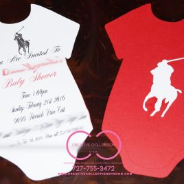 Polo Onesie Invitation