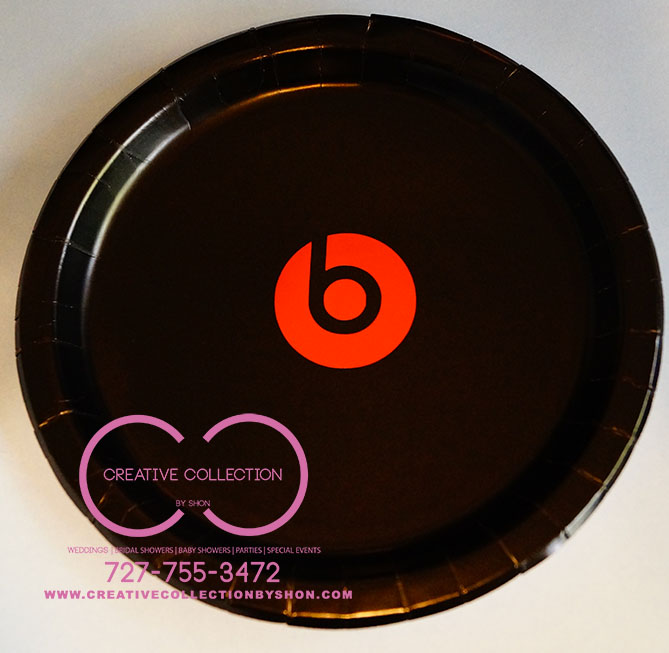 Beats By Dre Inspired Paper Plates