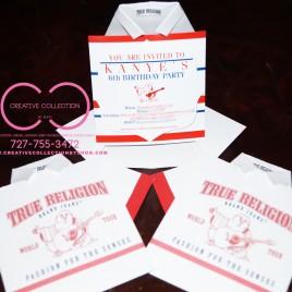 True Religion Inspired Shirt Invitation