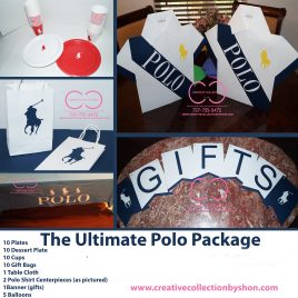The Ultimate Polo Package (Include: Plates and Cups, Gift Bag and Table Cloth)