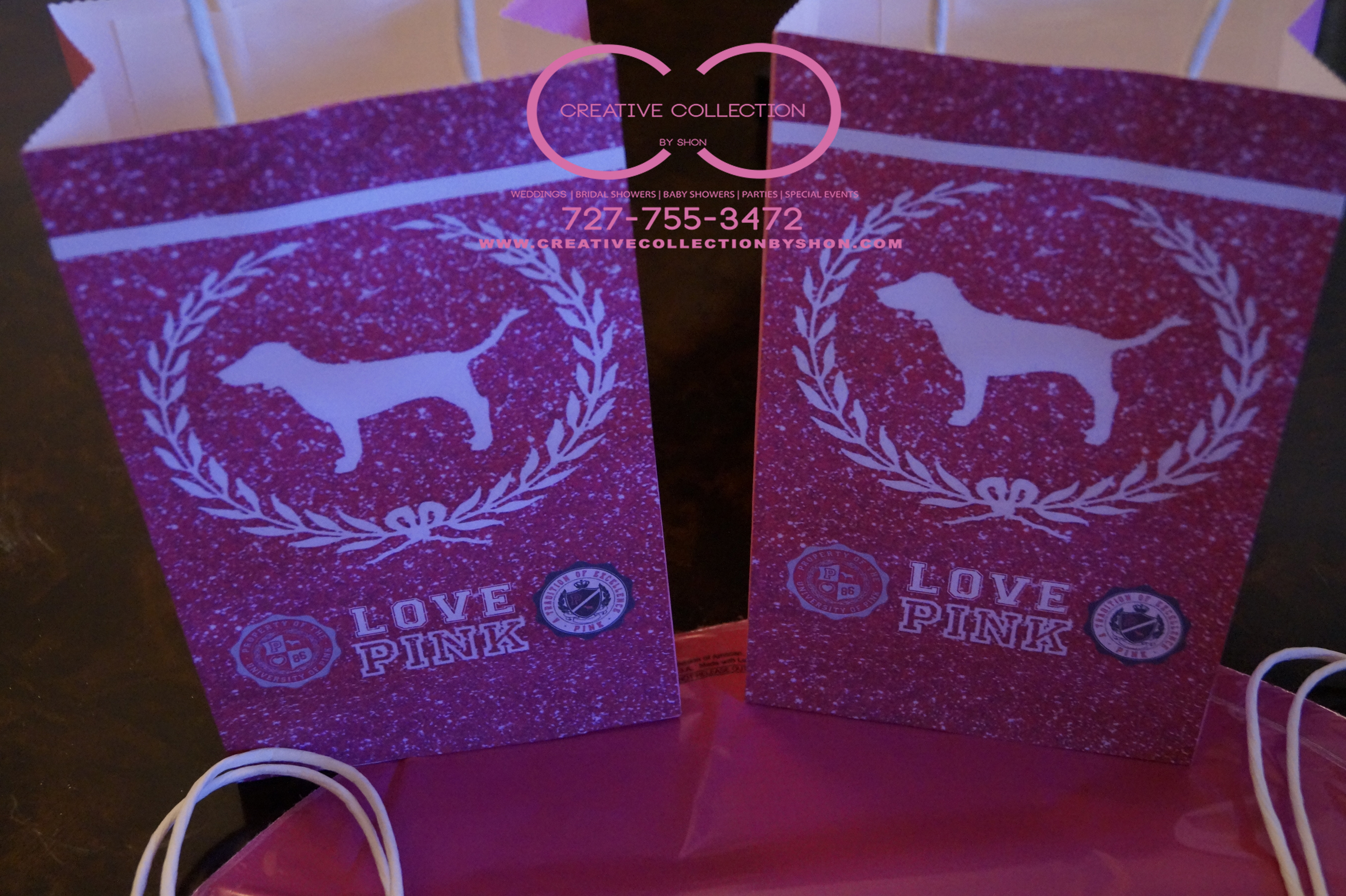 Love Pink Inspired Gift Bags | Creative Collection by Shon ...