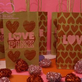 Love Pink Hearts Inspired Gift Bags