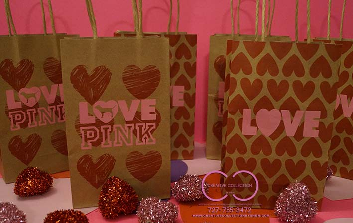 Love Pink Hearts Inspired Gift Bags | Creative Collection by Shon ...