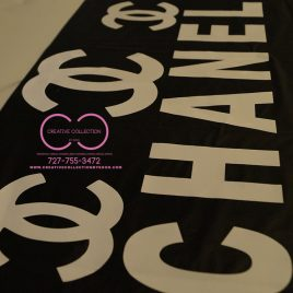 Chanel Inspired Table Cloth