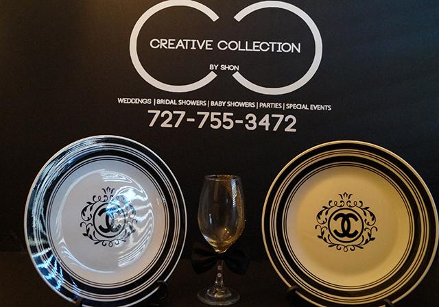 Parisian Inspired Plates White and Black