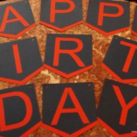 "True Religion ""Happy Birthday Banner"""