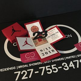Jordan Jumpman Inspired Explosion Box Invitation