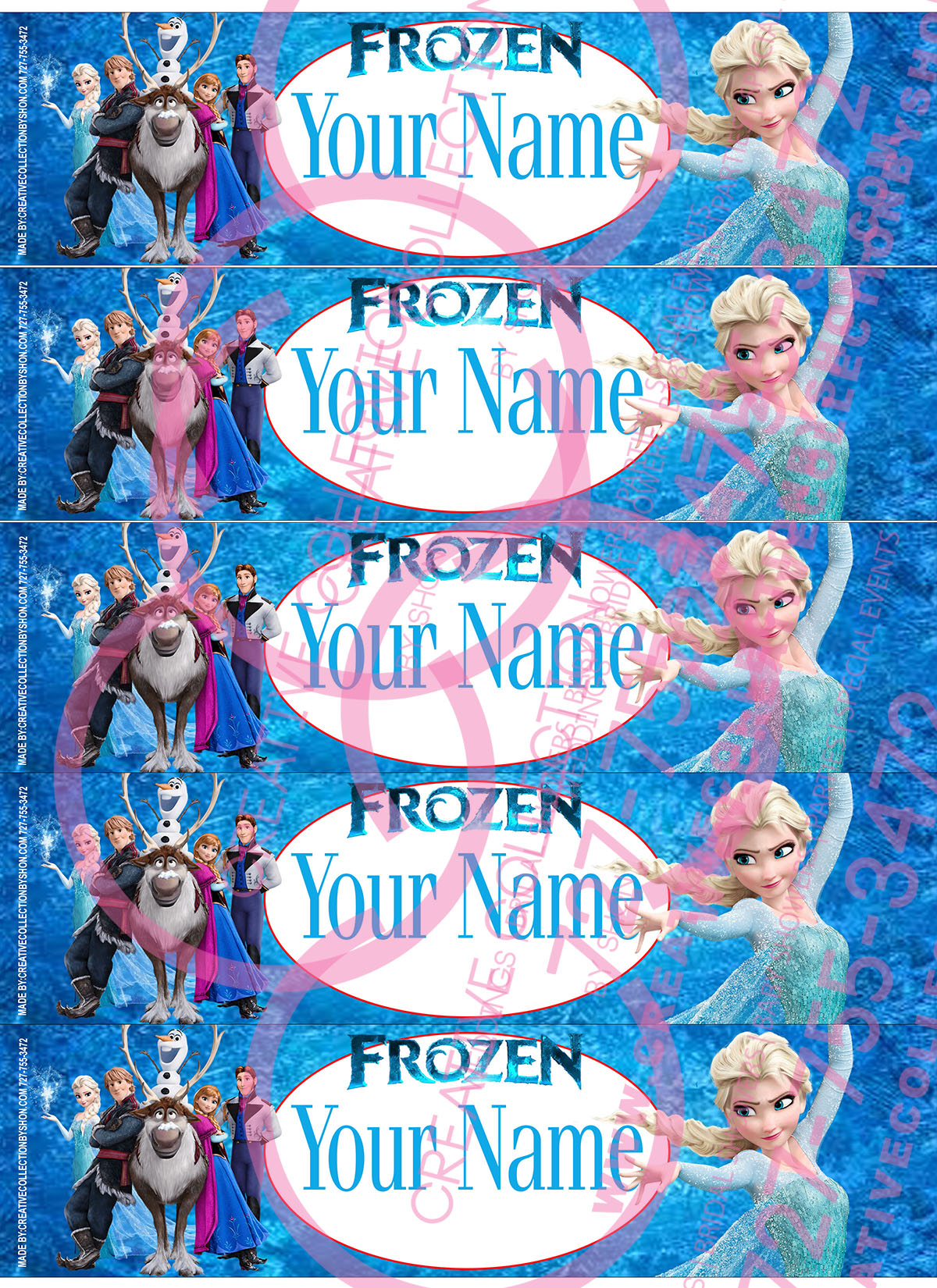 It's just a photo of Inventive Frozen Printable Labels
