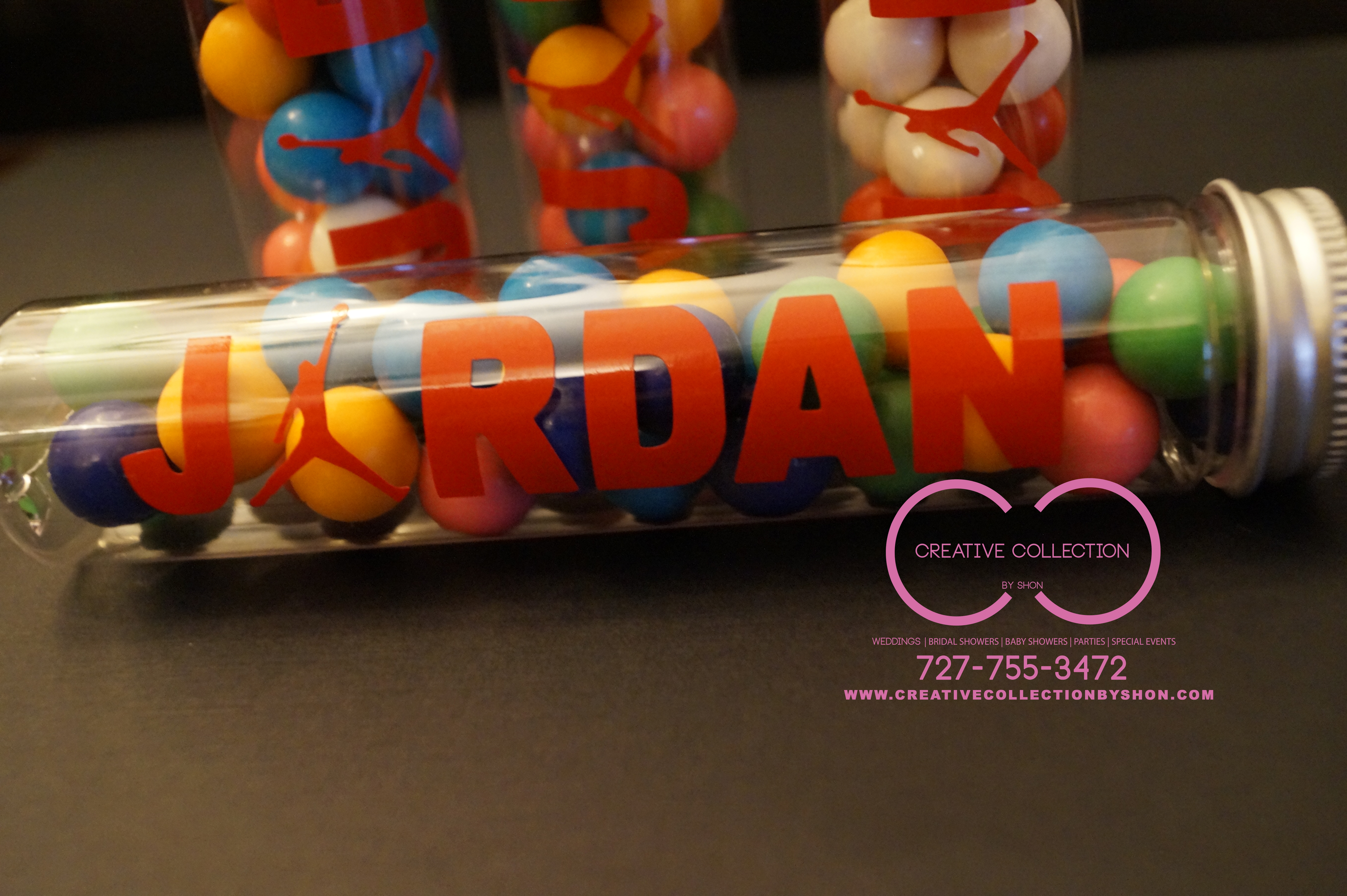Jumpman Jordan Theme Empty Candy Tubes Creative